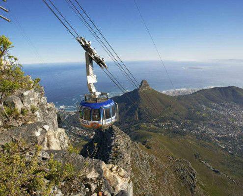 Wakacje RPA Kapsztad kolejka na Table Mountain