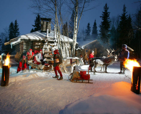 Laponia wycieczka, Spotkanie z Mikołajem