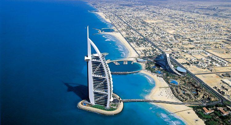 Dubai panorama miasta Burż Al Arab
