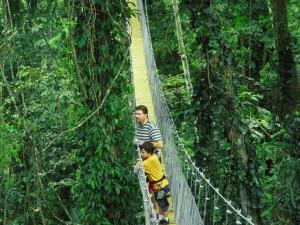 Kostaryka wycieczka monteverde mosty las tropikalny