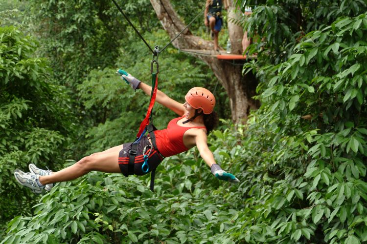Kostaryka wycieczka objazdowa.  Wspinaczki  canopy tour